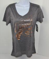 NCAA Georgia Bulldogs Women's Poly V-Neck T-Shirt, Gray Heather M 7/9 New
