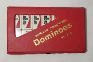 VINTAGE SEALED Marlboro Dominoes Double Six Spinners Professional Set