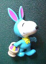 Peanuts Snoopy wearing Blue Outfit & Easter Basket Figurine