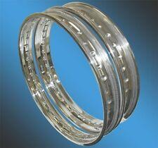 WHEEL RIM STAINLESS STEEL CWC RIM 2-17-40 BSA C15 FRONT OR REAR CAST IRON HUB