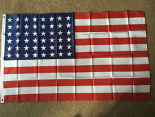 Usa 48 star flag 3 X 5 ft. polyester 2 Grommet holes one side