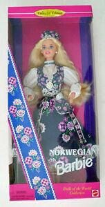 NORWEGIAN BARBIE Dolls of the World #14450 Mattel 1995 NRFB