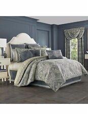 "J Queen New York MIRANDA 18"" Square Decorative Pillow Gray Blue New"