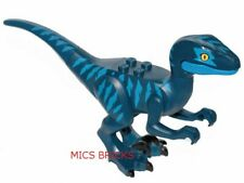LEGO - Animal, Dinosaur, Raptor / Velociraptor with Blue Markings - Dark Blue