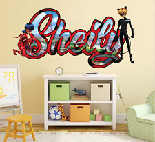 Miraculous Disney Movie Custom Vinyl Stickers 3D Wall Decals Name Art KA62