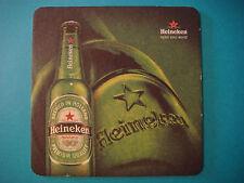 Beer COASTER Mat >< HEINEKEN Brewing Lager ~ See STORE 4 Thousands More Coasters