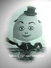 Vintage HUMPTY DUMPTY toy knitting pattern c1940s