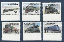 GRENADA - 1120 - 1125 - MNH - TRAINS - 1982