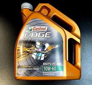 Castrol EDGE FST TITANIUM 10W-60 Motoröl 10W60 VOLLSYNTHESE Motorenöl 5 Liter