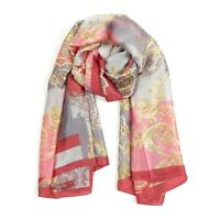 Women Soft Silk Summer Scarf Floral Print Fashion Scarfs Head Scarves for Ladies