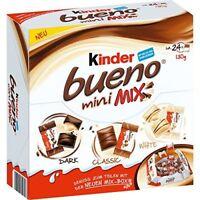 KINDER BUENO Mini Mix Box - Dark, Classic & White Chocolate Wafers 130g 4.6oz