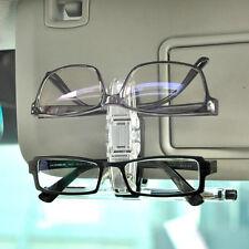 Dual Clip Car Accessory Sun Visor Glasses Sunglasses Eye Glasses Card Pen Holder