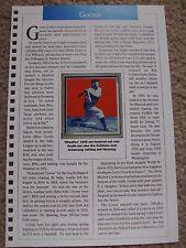 Goose Goslin 1990 Baseball Card Engagement Book w/ 1935 Wheaties Panel