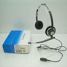 9de023fde94 Plantronics HW301N EncorePro Binaural Black Headband Office Telephone QD  Headset