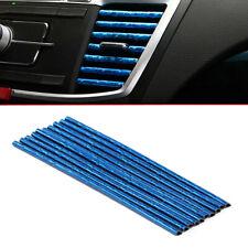 10Pcs 6 Color Car Accessories Air Conditioner Air Outlet Decor Strips 20cm/strip