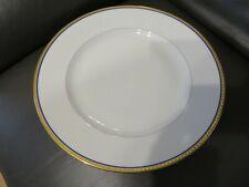 plat plat rond en porcelaine de limoges Haviland liseré or et bleu