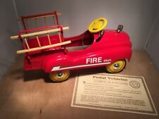 XONEX FIRE DEPT PEDAL CAR REPLICA HOOK & LADDER DIE CAST METAL 1:3 SCALE
