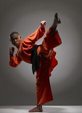 Framed Print - Shaolin Monk Warrior (Picture Poster Martial Arts Fighting MMA)