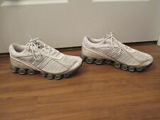 Used Worn Size 10 Adidas Bounce Shoes White & Silver