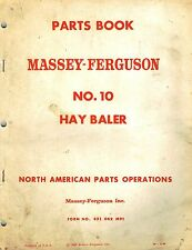 MASSEY FERGUSON  MF 10  BALER  PARTS MANUAL mf 651 062  M91