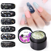 UR SUGAR Nagel Gellack Glitzern Pailletten Sequins Soak Off Nail UV Gel Polish