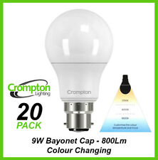 20 x LED 9W Light Globes Bulbs Bayonet Colour Changing Warm Cool White Daylight