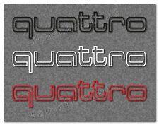 Audi QUATTRO 2 Aufkleber 200mm Dekor Schriftzug A3 A4 A5 A6 -30 Farben- Audi028