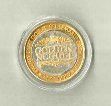 $28 Silver/ Gold Strike Golden Nugget Silver Waterfall Casino Gaming Coin Token