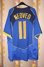 JUVENTUS ITALY 2004/2005 AWAY FOOTBALL SHIRT JERSEY CAMISETA #11 NEDVED