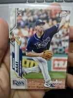 2020 Topps Opening Day Brendan McKay card # 1 RC Tampa Bay Rays Rookie