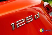 BMW NUOVO ORIGINALE F20 F21 10-16 1 SERIE 125d CROMATO ADESIVO Badge Emblema 7330037