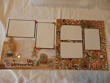 12x12 premade scrapbook layout Baking holiday Christmas cookies gingerbread