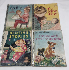 Little Golden Books Bundle Kids Books X 4 Vintage 1960s