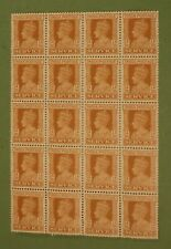 India George VI  1a.3p. x20. (S.G. 0145) Superb block of 20 MNH.