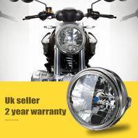 12V 7'' Phare Feux Avant Lateral Halogéné Lampe Ampoule H4 Rond Moto VTT Vélo