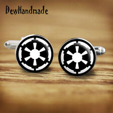 Star Wars Galactic empire sigil handmade cufflinks for geeks, nerds