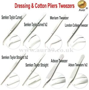 Dentistry Dressing & Cotton Forceps Tweezers Soft Tissue Surgeries Pliers