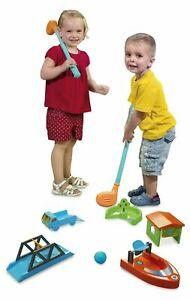 CRAZY GOLF SET Kids Plastic Golf Outdoor Game Practice Kit Birthday Gift Toy Box