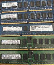 Mix Lot Of 5 2GB Samsung/Hynix/NanyDDR2 800 PC2 Desktop Computer Memory PC Ram