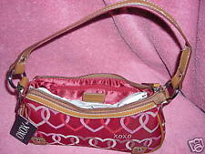 "NWT XOXO Small Red Heart Handbag ""Love Line"" Styl#51894"