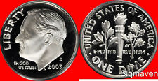 2003 S Clad Roosevelt Dime Deep Cameo Gem Proof No Reserve