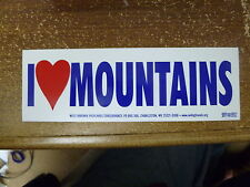 I Love Mountains Stickers Decals