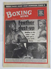 Boxing News25 Oct 1991 McMillan Murphy Hoko Villasana Angol Russell Logan A.Till