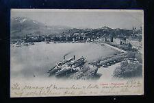 Luzern Promenade Switzerland - Victorian 1902 RP Suisse Carte Postale Postcard