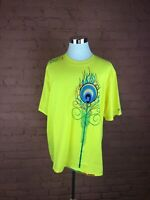 NWT Men's Coogi Shirt Size 3XL Yellow W/Multicolored Design Short Sleeve V-10