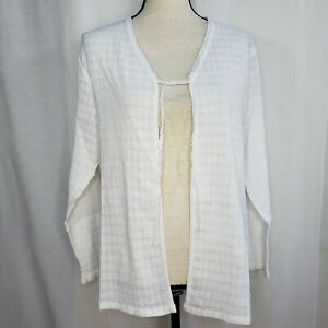 April Cornell Small Mist Jacket NWT White Gauze Front Tie Cotton NEW Cover Up