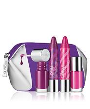 Clinique Chubby Stick Lip Balm PUDGY PEONY Voluptuous Violet Nail Polish 5PC Set