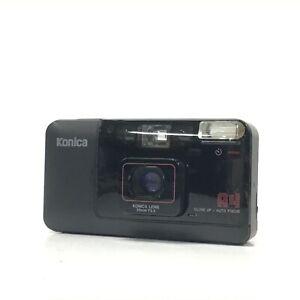 Konica BIG mini A4 Black 35mm F3.5 Point & Shoot Film Camera GOOD TK06D