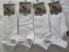 """BNWT 12 BIG FOOT""""ACTIVE SPORT"""" WHITE TRAINER SOCKS -SIZE 11-14  FREE POST TO UK"""