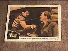 VIOLENT ROAD 1958 LOBBY CARD #5